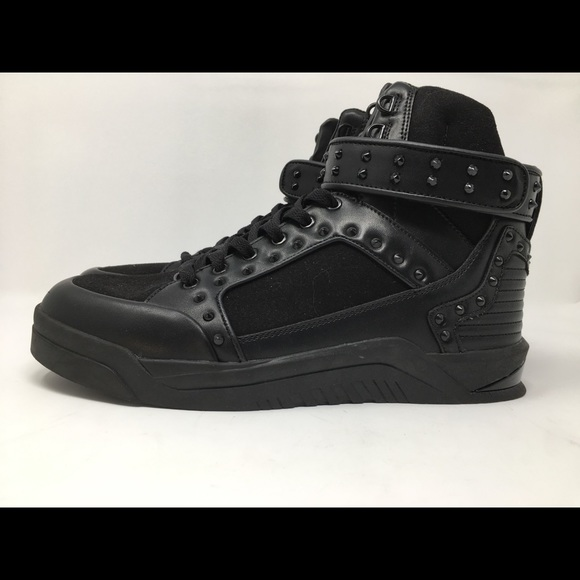 a6efc60d ZARA MAN BLACK STUDDED HIGH TOP SNEAKERS NWT